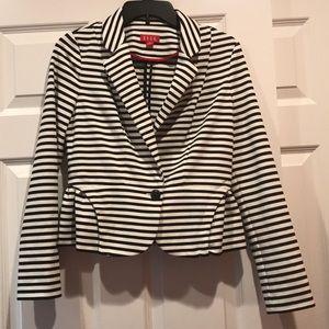 Elle Black white stripe jacket small